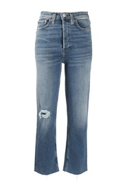 Ultra High-Rise Stove Pipe Jeans