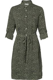 Dress with buttons AOP leopard