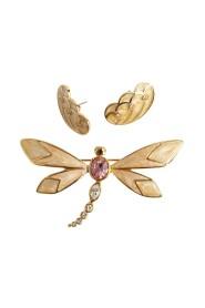 dragonfly brosje øredobber sett