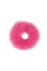 FUR SCRUNCHIE HOT PINK