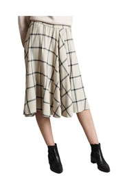 Chequered A-line Skirt