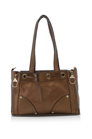 Leather Poppy Square Tote