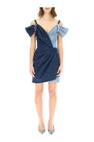 Minivestido denim patchwork