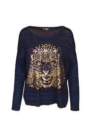 Paris Fashion Classic Tricot bluse med tiger