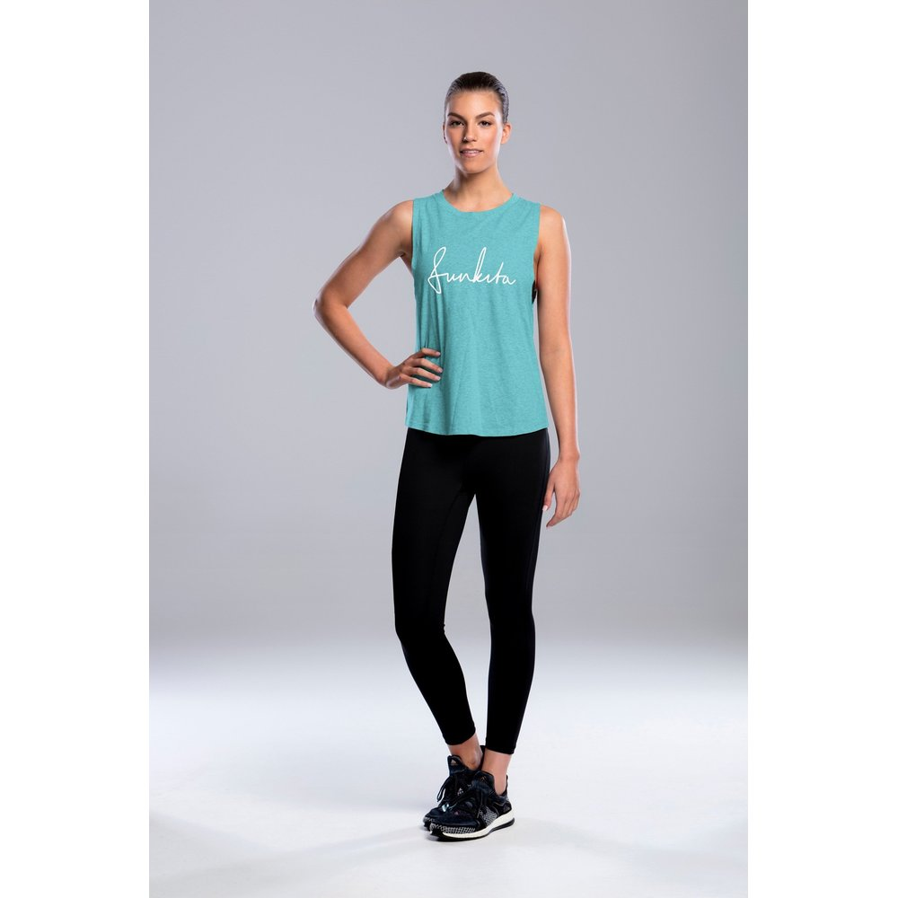 Mint Schribble Tank Top