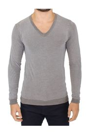 Cotton Stretch V-neck Pullover Sweater