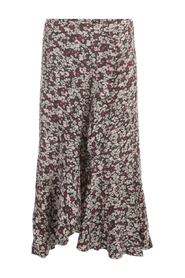PRINTED CREPE STRAIGHT SKIRT