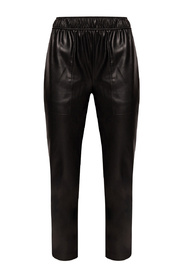 Trousers from vegan leather