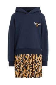 Dress zebra print sweatshirt