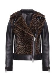'Elia' shearling biker jacket