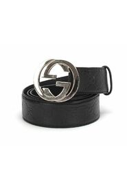 Pre-owned Guccissima Signature Belt  in calfskin leather