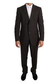 Solid Two Piece 2 Button Wool Suit