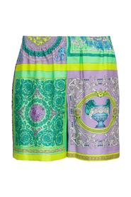 Shorts with Baroque Print