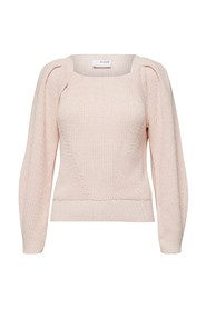 gry ls knit square neck
