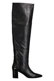 Leather cuissard boot