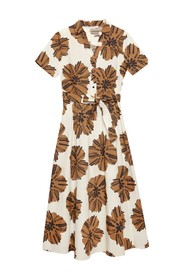 Printed Dress With Belt