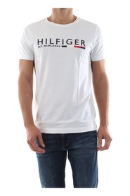 TOMMY HILFIGER MW0MW12531 STRIPE TEE T SHIRT AND TANK Men WHITE