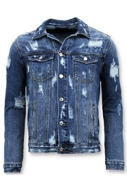 Denim jacket- Ripped Denim