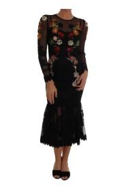 Floral Applique A-line Dress