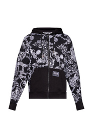 Hoodie with Baroque print