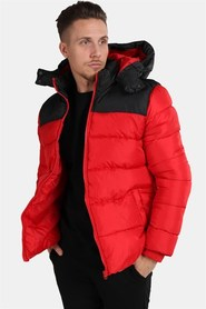 Only & Sons Heavy Colourblock Hood Jacka Racing Red