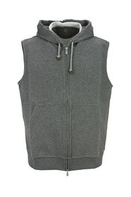 Hooded sweatshirt vest