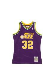 basketball jersey man nba swingman jersey hardwood classics n.32 karl malone 1991-92 utajaz road