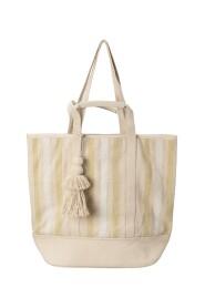 Jacquard stripe beach bag