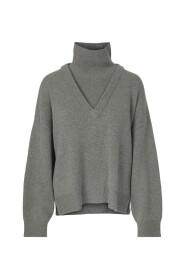 Barbro Sweater Grey Melange