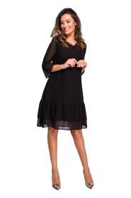 Sukienka szyfonowa z falbanami