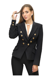 Short jacket with buttons