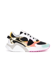Eze Mondial Metal sneakers in leather and multicolor mesh