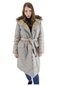 Double-breasted jacket padded with down