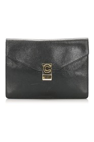 Pre-owned Clutch Bag Leather Calf