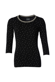 Essential Dot T-shirt Med Stribet Ribkant