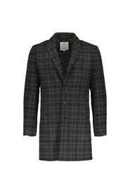 Lindbergh Checked Wool Coat Grey Check