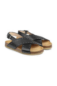 Sandal with rivets