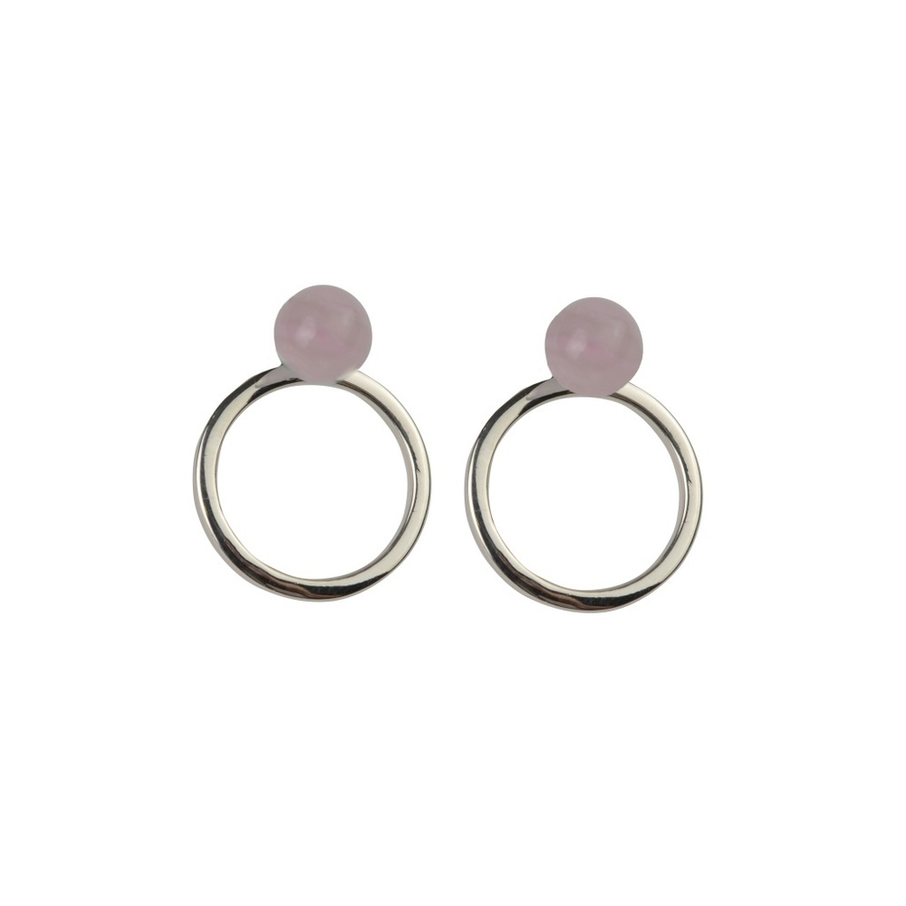 Planet earrings silver rose - Syster P