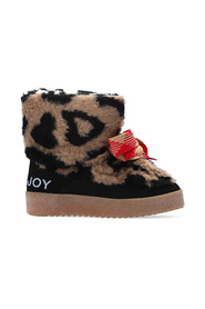 Snow boots with animal motif
