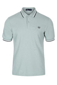 Sølvblå Fred Perry Twin Tipped Polo