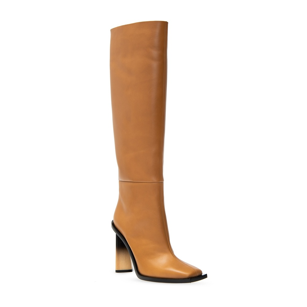 Givenchy Brown 'Losange�?leather boots Givenchy