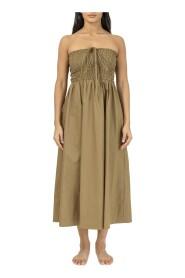 Poplin Smocked Dress