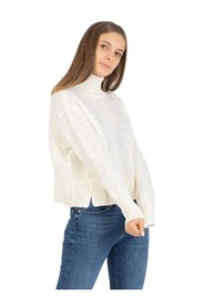 High neck tricot sweater
