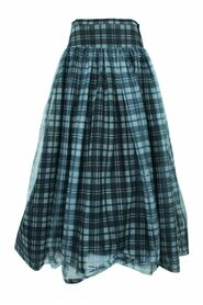 Checked Maxi Elegant Skirt