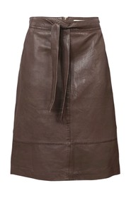 Leather Skirt Belted