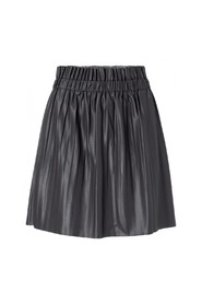Faux leather mini skirt with pleats