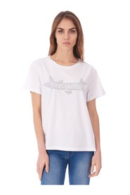 TRUSSARDI JEANS BOXY FIT T-SHIRT WITH STUDS