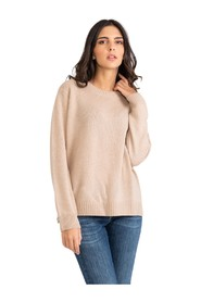 Wool / cashmere sweater with round neck