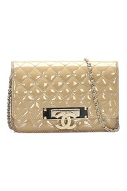 Timeless Patent Leather Wallet on Chain