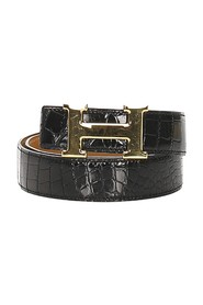 H Reversible Leather Belt